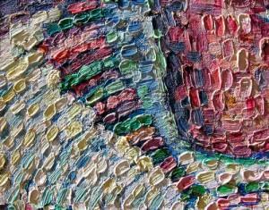 Macrophotographie montrant le relief des touches